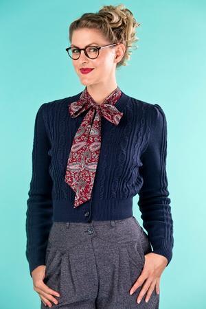 the sassy secretary blouse. paisley