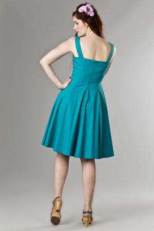 the bombshell bolero and dress duo. turquoise