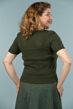 the jazzy A-line skirt. deep forest bouclé