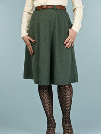 the jazzy A-line skirt. deep forest bouclé