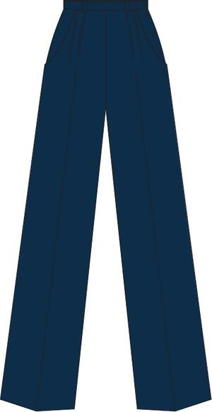 the casual voyager slacks. navy twill