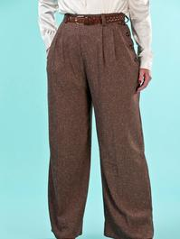 the casual voyager slacks. brown salt & pepper