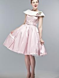 the strawberry summernight dress. Pink checked satin