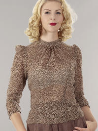 the times go by top. leopard chiffon