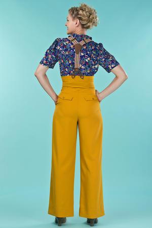 the miss fancy pants slacks. mustard weave