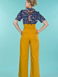 the miss fancy pants slacks. mustard weave