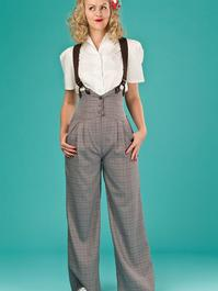 the miss fancy pants slacks. brown weave