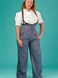 the miss fancy pants slacks. navy weave
