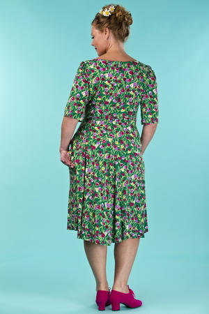 the drop dead gorgeous dress. tulips in green