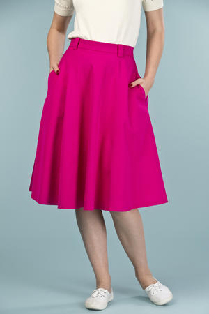 the jazzy A-line skirt. pink twill