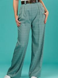 the casual voyager slacks. blue/green/brown