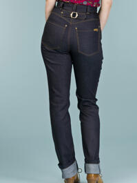 the jumping 'n jiving jeans. dark navy denim