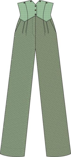 the miss fancy pants slacks. blue/green/brown