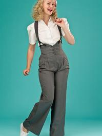 the miss fancy pants slacks. gray