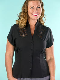 the be my baby blouse. black