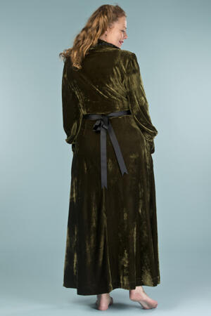 the beautiful boudoir robe. deep forest