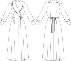 the beautiful boudoir robe. burgundy