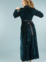 the beautiful boudoir robe. dark teal