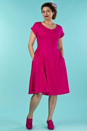 the true thirties dress. pink twill