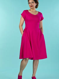 the true thirties dress. pink twill