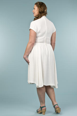 the rock around the clock dress. cream linen