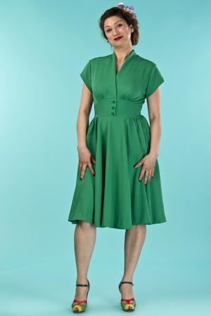 the rock around the clock dress. forest green