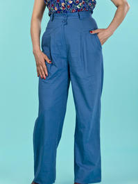 the fancy worker pants. blue cotton