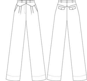 the fancy worker pants. mustard weave