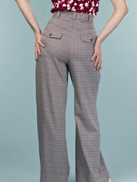 the fancy worker pants. brown weave