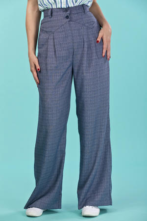 the fancy worker pants. navy weave