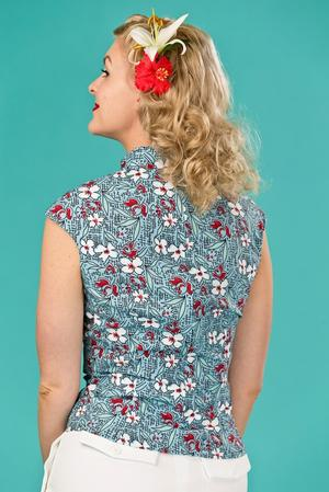 the Shanghai sweetie top. multi floral