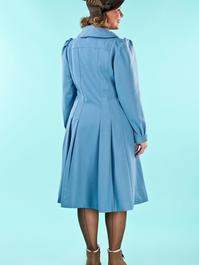 the winter wonder coat. dusty blue