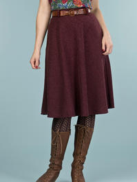 the jazzy A-line skirt. wine bouclé