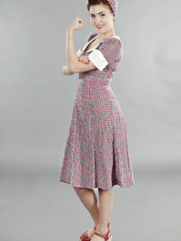 the lovely lindy dress. Red/blue checkered
